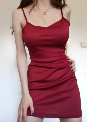 rotes burgundy mini kleid