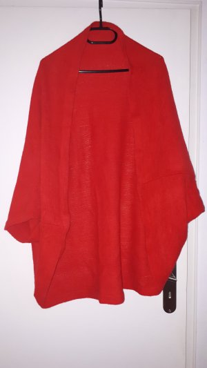 Knitted Poncho red