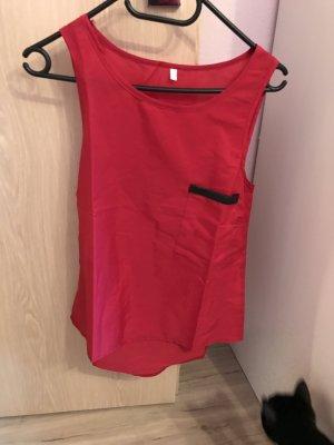 Rotes Chiffon Top, Größe M