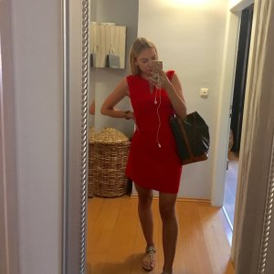 Mango Cocktail Dress red