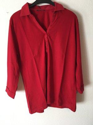 rotes dreiviertelarm Shirt