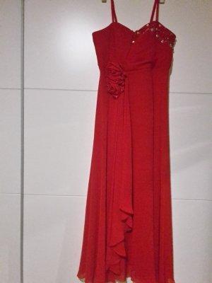 rotes einfaches kleid grösse 48