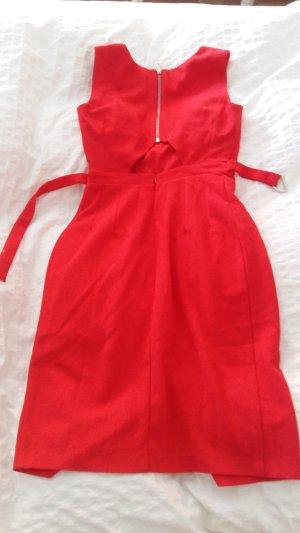 Asos Midi Dress red