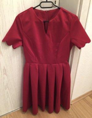 rotes festliches Kleid mit Bogenkanten/ Cocktailkleid