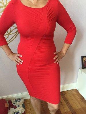 Fornarina Stretch Dress red viscose
