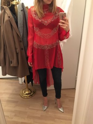 Rotes Glitzer Pailletten Kleid