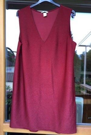 H&M Midi Dress dark red-silver-colored