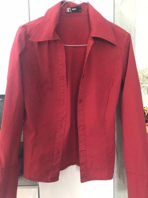 Rotes Hemd, tailliert, Größe 34, Only