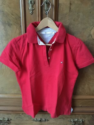 Rotes Hilfiger Polo, Gr. S