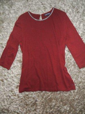 Rotes Hilfiger Shirt, Dreiviertelarm, Größe M