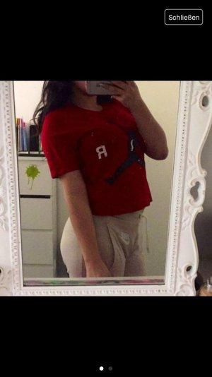Rotes Jordan crop t-Shirt