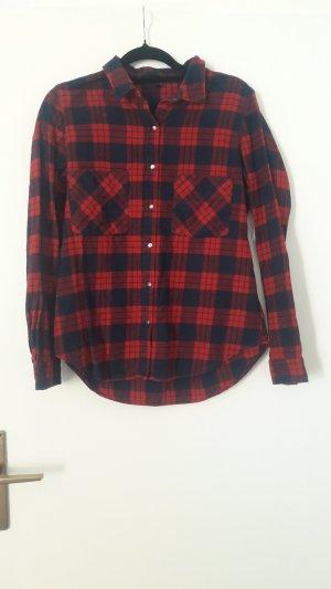 Pimkie Chemise noir-rouge foncé