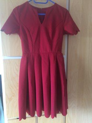 Vestido línea A rojo
