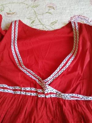 vestido de globo blanco-rojo