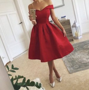 Cocktail Dress brick red
