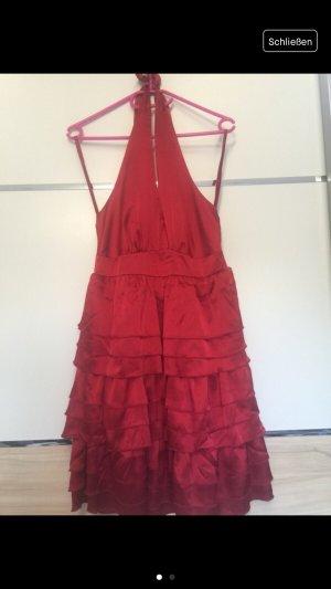 Rotes Kleid Ballkleid Rückenfrei Glänzend