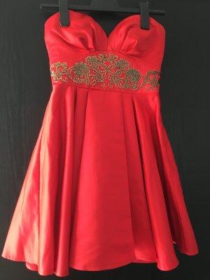 Rotes Kleid Faltenrockkleid