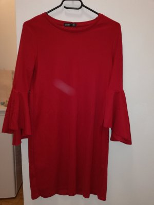 Bershka Longsleeve Dress red