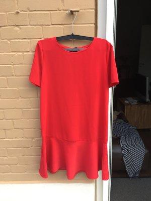 Rotes Kleid locker fallend minikleid Mini