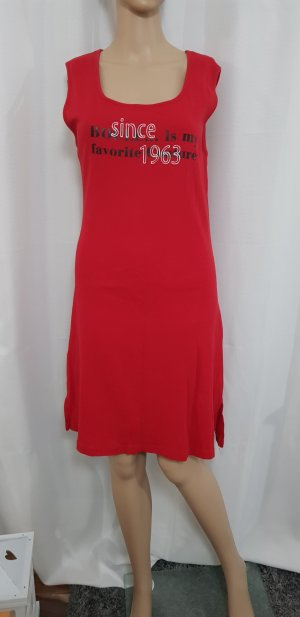 rotes kleid long top