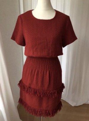 Rotes Kleid Maje Fransen Größe 2 (36)