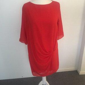 Zara Basic Robe chiffon rouge