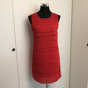 Zara Robe à volants rouge