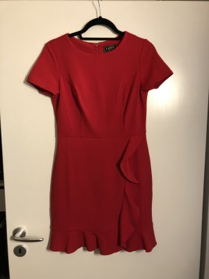 Lipsy Flounce Dress red-dark red