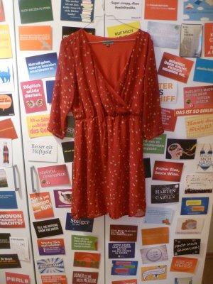 Rotes Kleid mit weißen Punkten von Zalando Essentials, Basic, Blogger, gepunktet