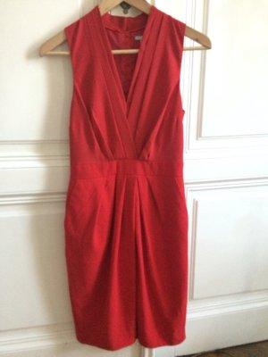 Rotes Kleid, mittellang, Gr. 34