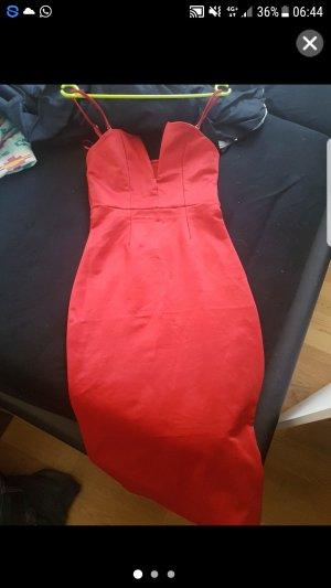 rotes kleid von bik bok