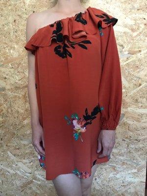 French Connection Vestido de un hombro multicolor Viscosa