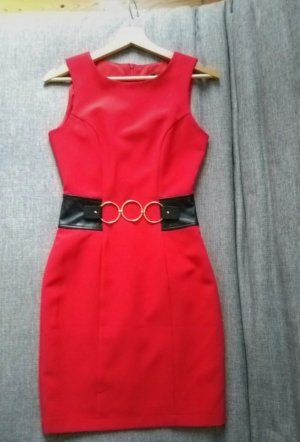 Gil Santucci Robe tube rouge