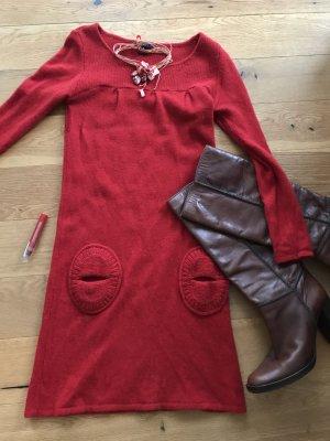 Rotes Kleid von Sfera Wollkleid Strickkleid Winterkleid S 36