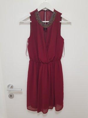 Zara Vestido de cóctel carmín