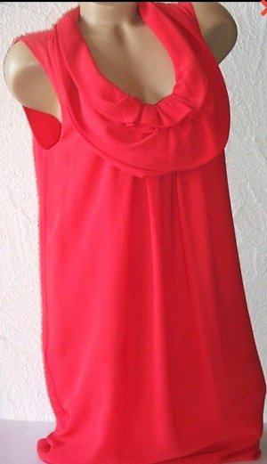 Rotes Kleid Wasserfallausschnitt Gr 40