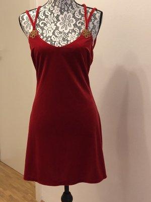 Rotes Kleidchen aus superweichem Samt mit aufregendem Rückenausschnitt  (Malizia by La Perla)