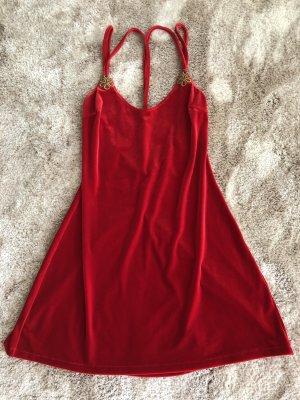 La perla Vestido babydoll rojo