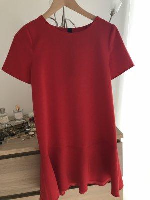 Rotes kurzärmliges Kleid von MANGO