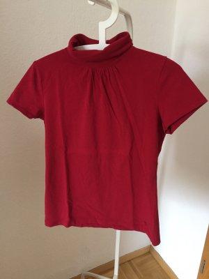 Esprit Turtleneck Shirt red cotton