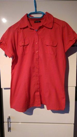 Rotes Kurzarm Hemd von Amisu