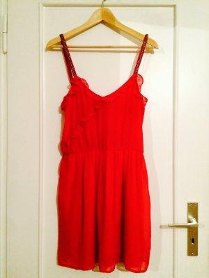 Rotes kurzes Sommerkleid von Zara
