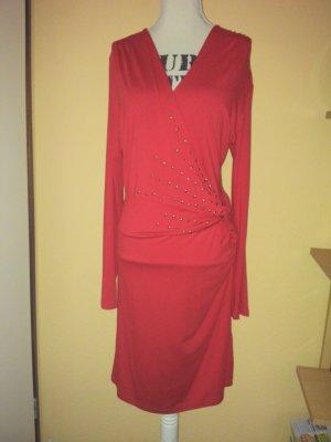 Rotes, langärmliges Jerseykleid NEU