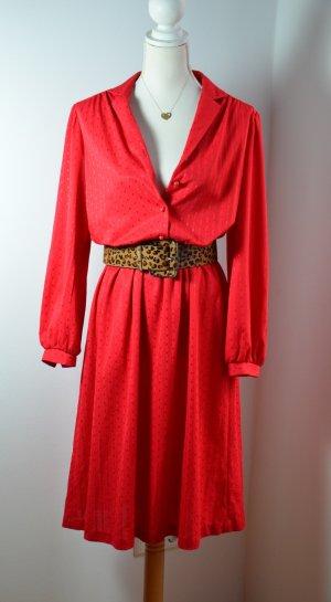 Rotes  Langarm Kleid – VINTAGE