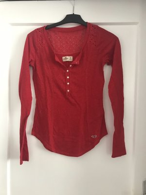 Hollister Long Shirt dark red
