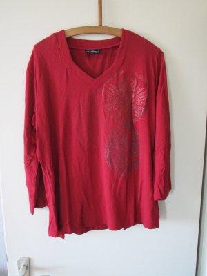 rotes Langarm-Shirt Größe L