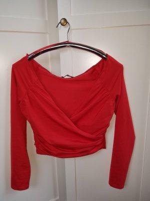 Bershka Wraparound Shirt red