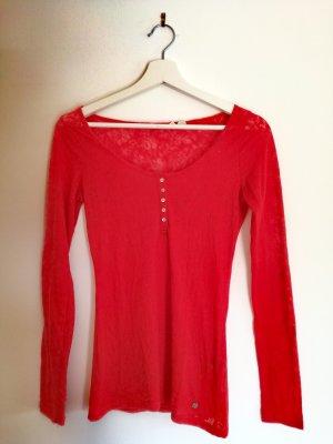 Rotes LangarmShirt + BlumenMusterung