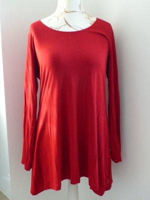 Vetono Vestido tipo túnica rojo Viscosa