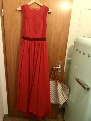Rotes langes Aschenputtelkleid